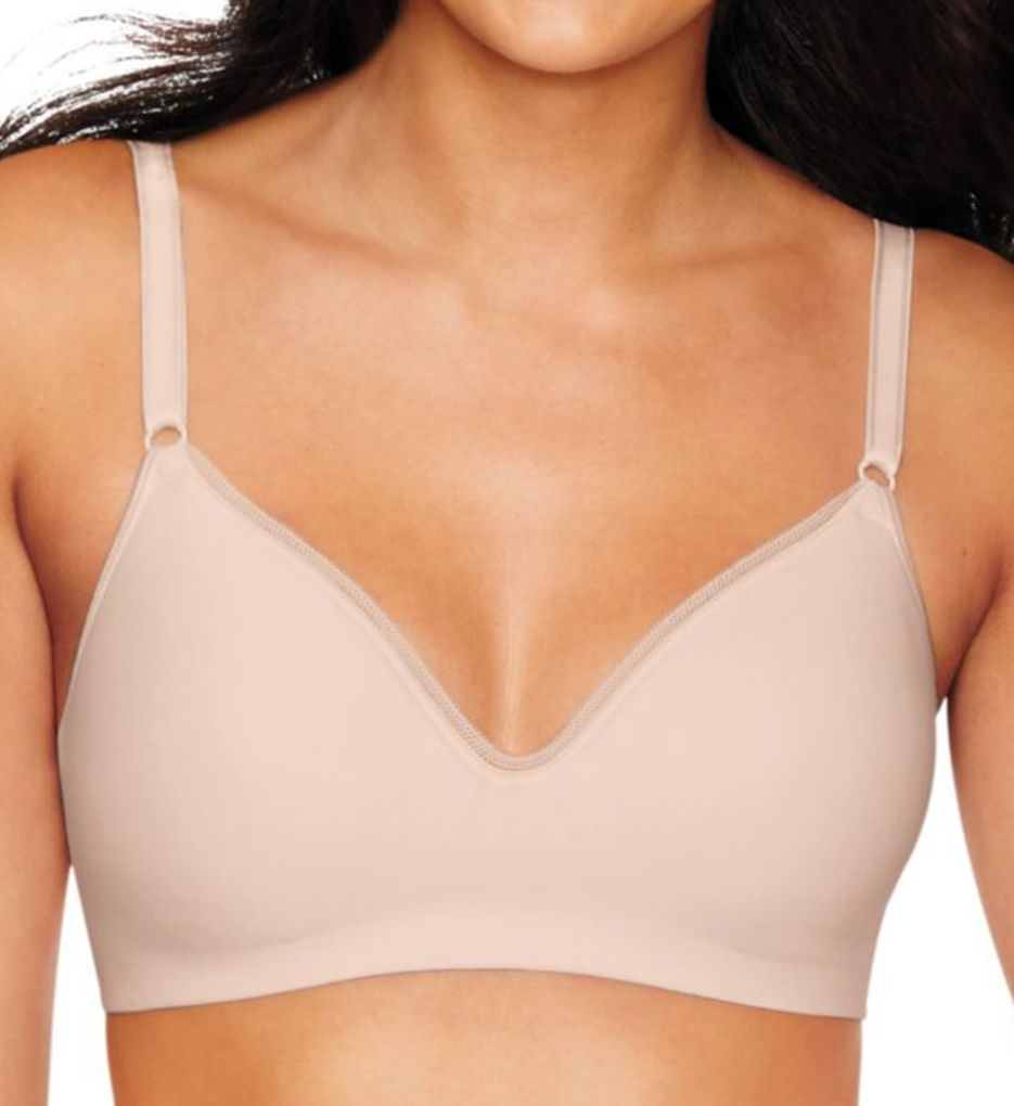 Hanes Ultimate Smooth Inside and Out Foam Wirefree Bra