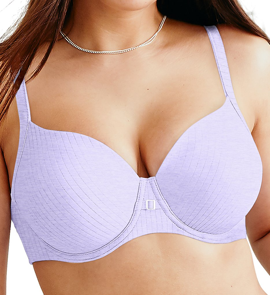 Hanes HU20 Ultimate T-Shirt Soft Natural Lift Underwire Bra (Misty Lilac Stripe)