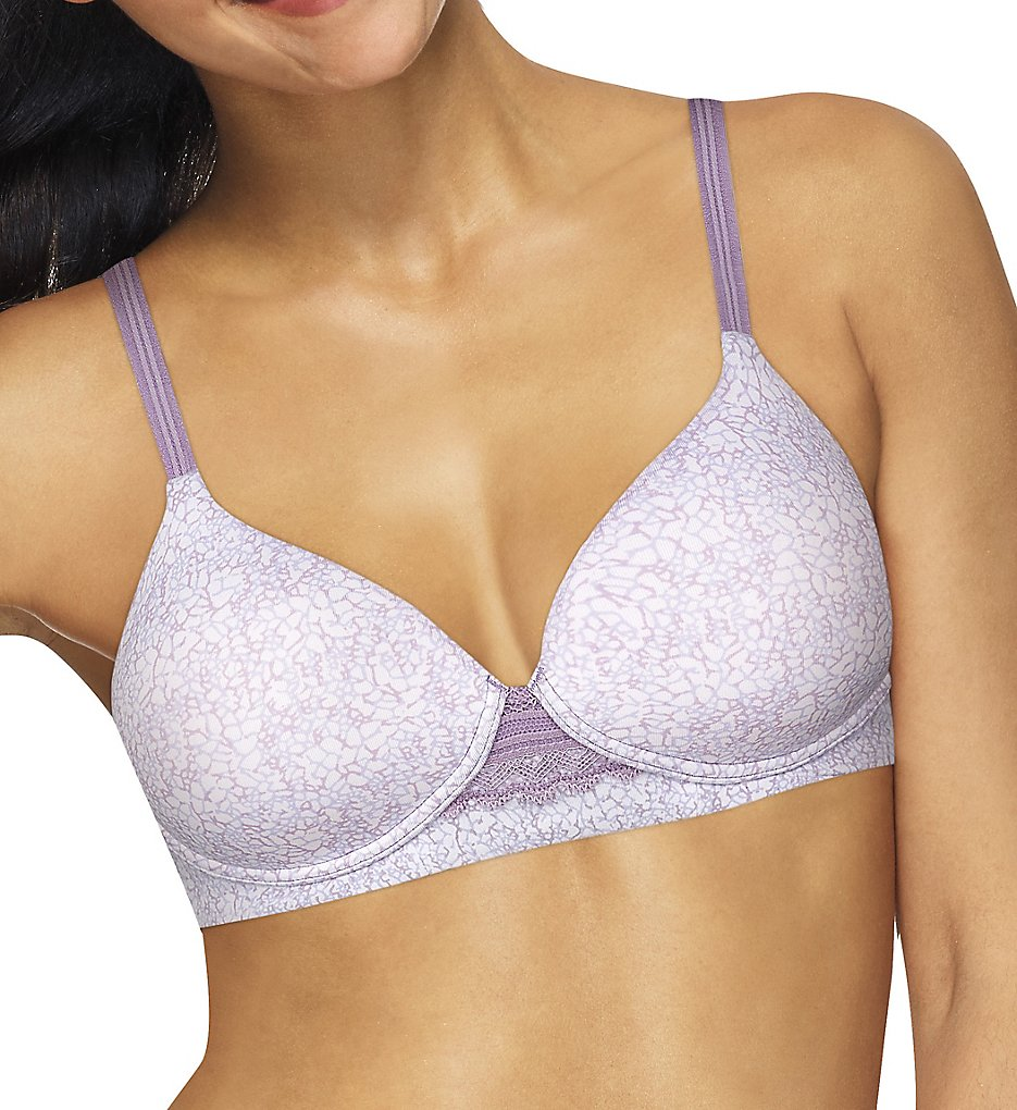 Hanes HU25 Ultimate ComfortFlex Fit Natural Lift Wirefree Bra (MistyAbstractGeoPrint)