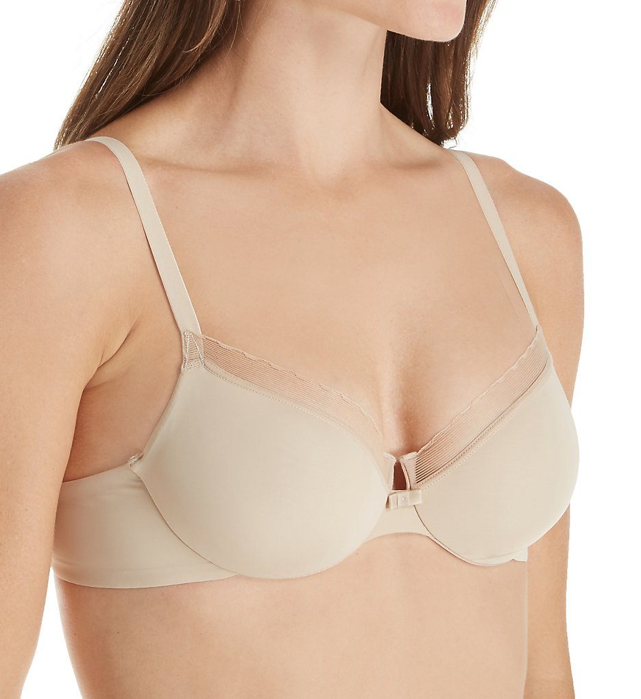 Hanes HU30 Silky Smooth Comfort Unlined Underwire Bra (Skin)