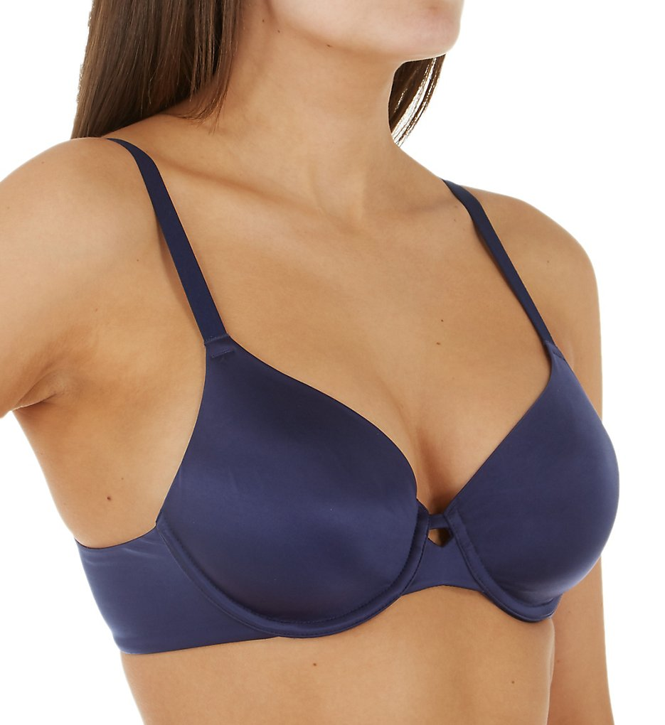 Hanes HU33 Ultimate No Show Support Underwire Bra (Coil Blue)