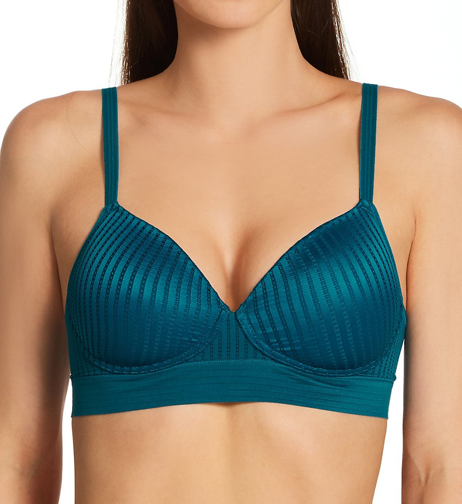 Hanes - Hanes HU35 No Dig Support SmoothTec Wirefree Bra (Petro Teal XS)