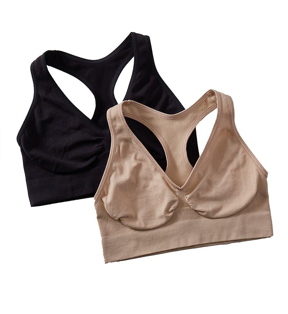 Hanes HUT1 Comfy Support Live Love Comfort Bra - 2 Pack