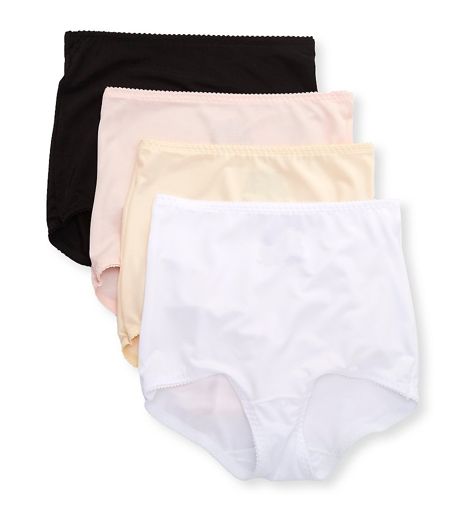 Hanes - Hanes MHB051 Light Control Shaping Brief - 4 Pack (Black/Beige/Pink/White XL)