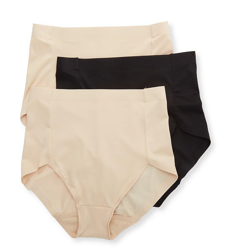 Hanes - Hanes MHH0036 Smoothing Brief Panty - 3 Pack (TransparentBlack XL)