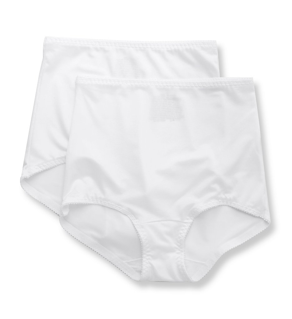 Hanes - Hanes MHH051 Smoothing Brief Panty - 2 Pack (White/White XL)