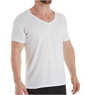 Hanes Ultimate Comfortblend V-Neck T-Shirts - 4 Pack