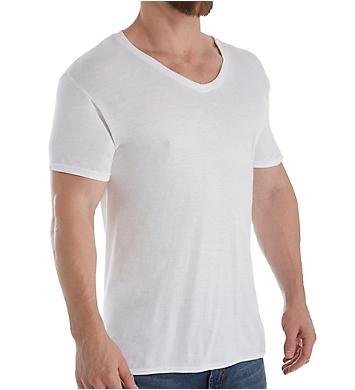 Hanes Platinum ComfortFit Modal V-Neck T-Shirts - 4 Pack