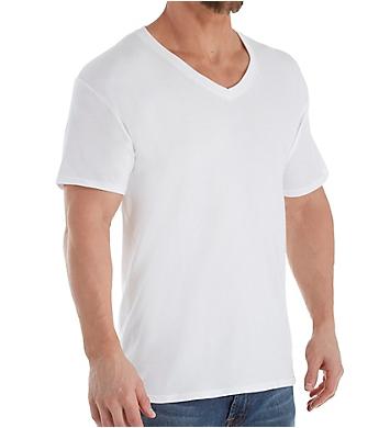 Hanes Platinum Stretch V-Neck T-Shirts - 4 Pack
