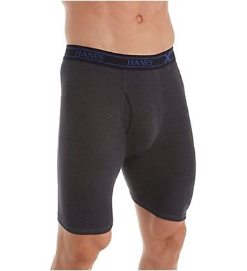 Hanes Combed Cotton Long Leg Boxer Briefs - 4 Pack