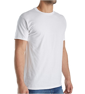 Hanes X-TEMP Combed Cotton Crew T-Shirts - 4 Pack