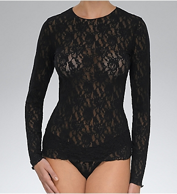 Hanky Panky Signature Lace Unlined Long Sleeve T-shirt