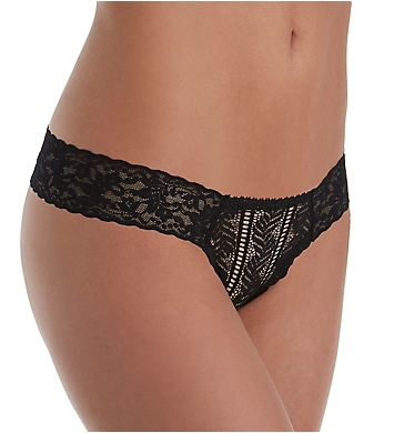 Hanky Panky Linear Lace Low Rise Diamond Thong
