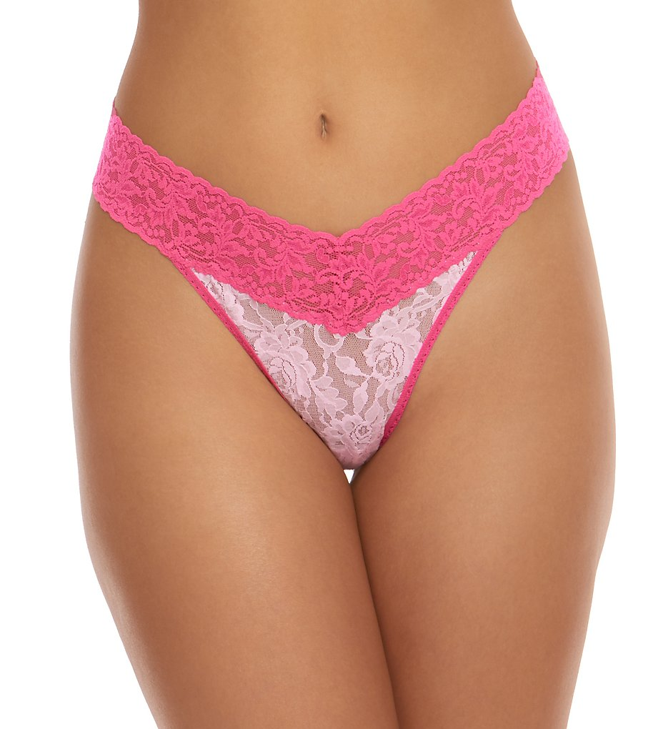 Hanky Panky >> Hanky Panky 3511 Signature Lace Colorplay Original Rise Thong (Blossom/Flamboyant O/S)
