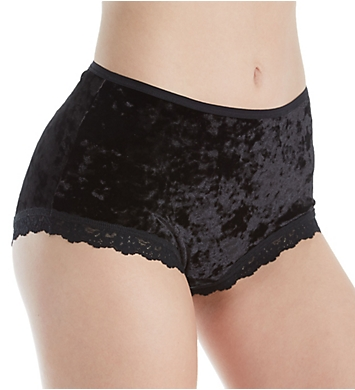 Hanky Panky Panne Velvet Shirred Brief Panty