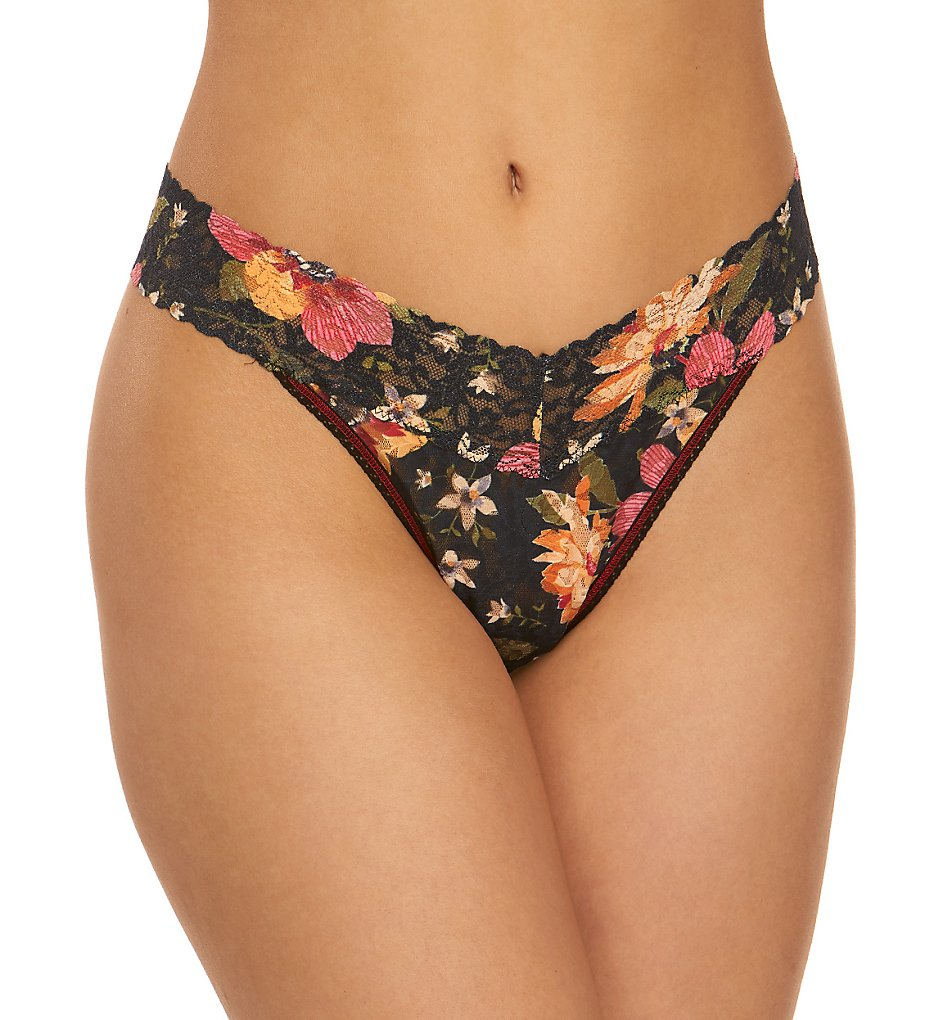 Hanky Panky - Hanky Panky 4811PTN Original Rise Pattern Thong (Autumn Bloom O/S)