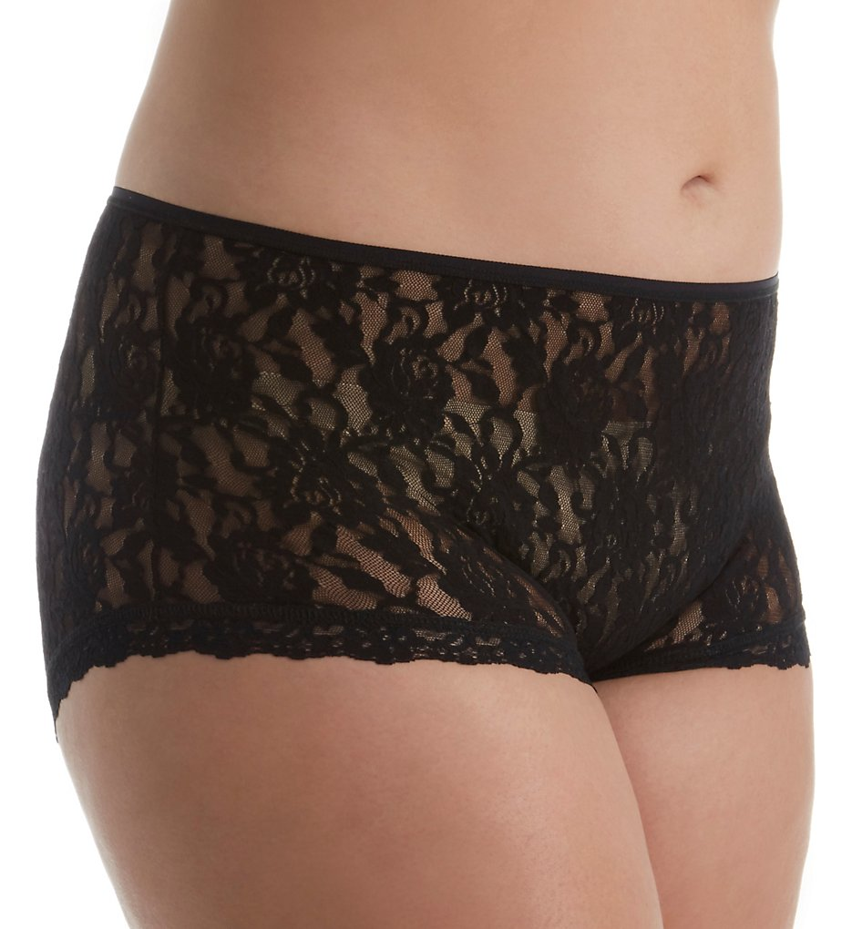 Hanky Panky : Hanky Panky 482222X Signature Lace Betty Plus Size Brief Panty (Black 1X)