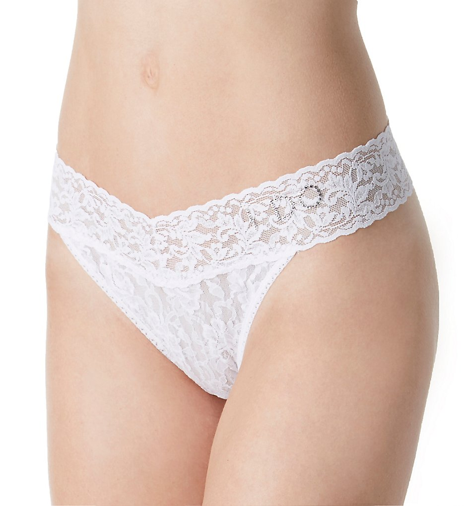 Hanky Panky - Hanky Panky 6511 I Do Original Lace Thong (White O/S)
