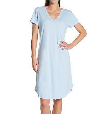 Hanky Panky Interlock Cotton Nightshirt With Contrast Stitch
