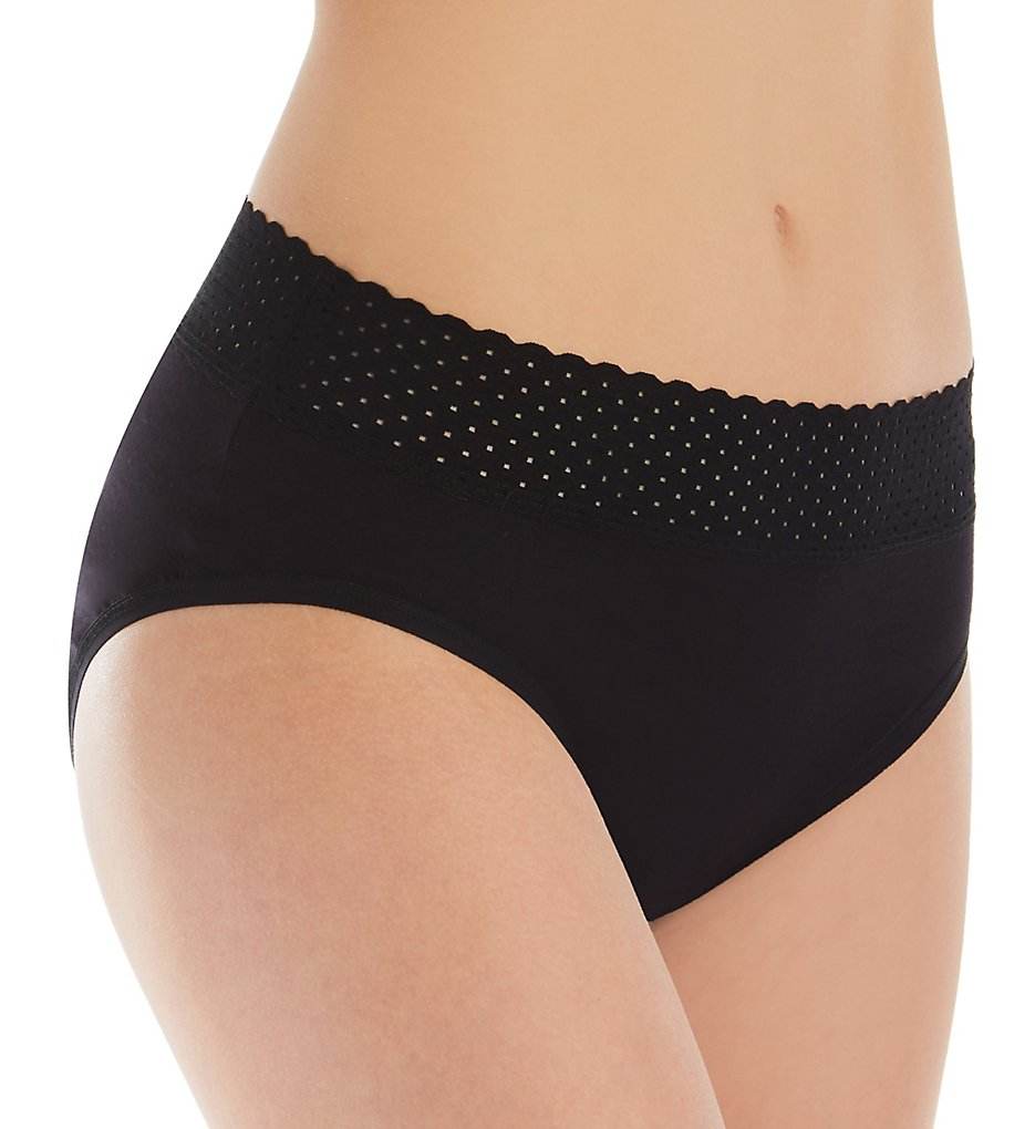 Hanky Panky - Hanky Panky 792131 Eco Organic Cotton French Brief Panty (Black L)