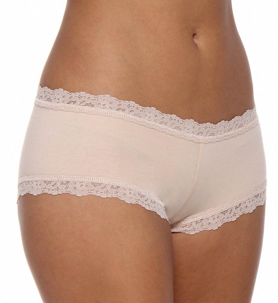 Hanky Panky - Hanky Panky 891281 Organic Cotton Boyshort Panty (Chai XS)