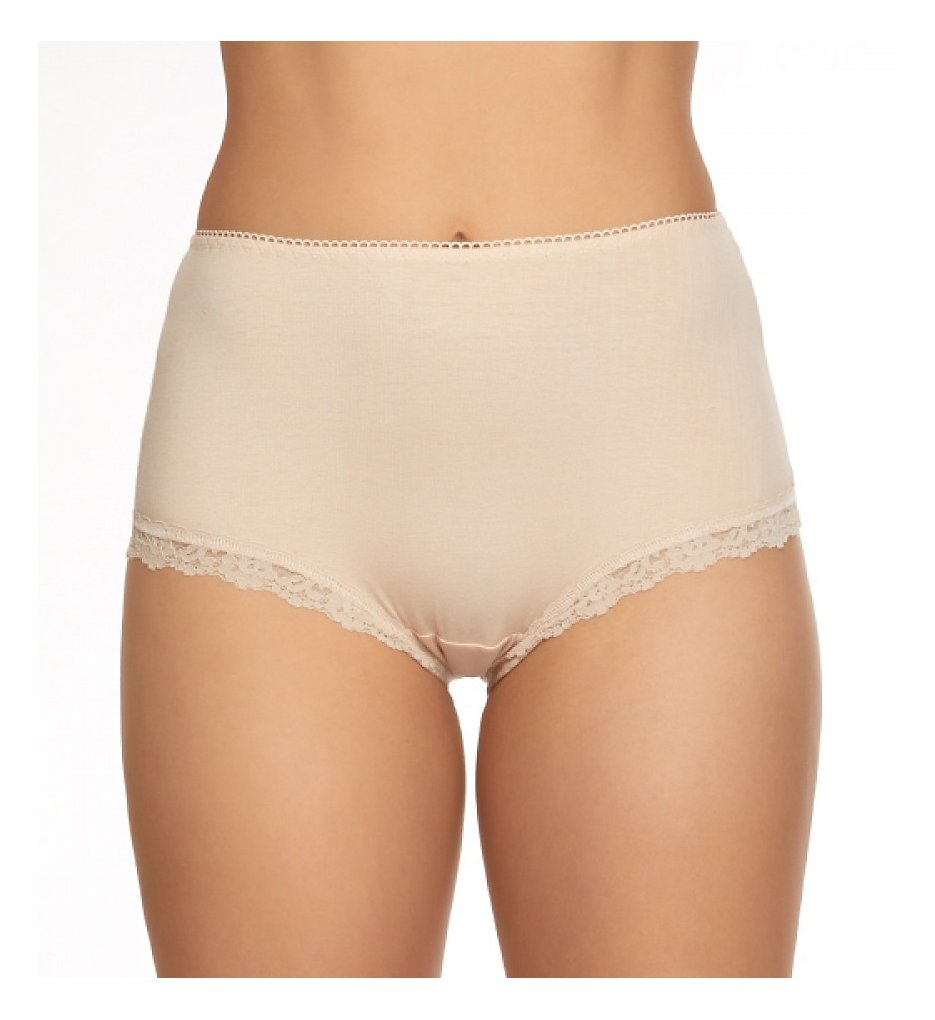 Hanky Panky - Hanky Panky 892221 Organic Cotton Shirred-Back Betty Brief Panty (Chai S)
