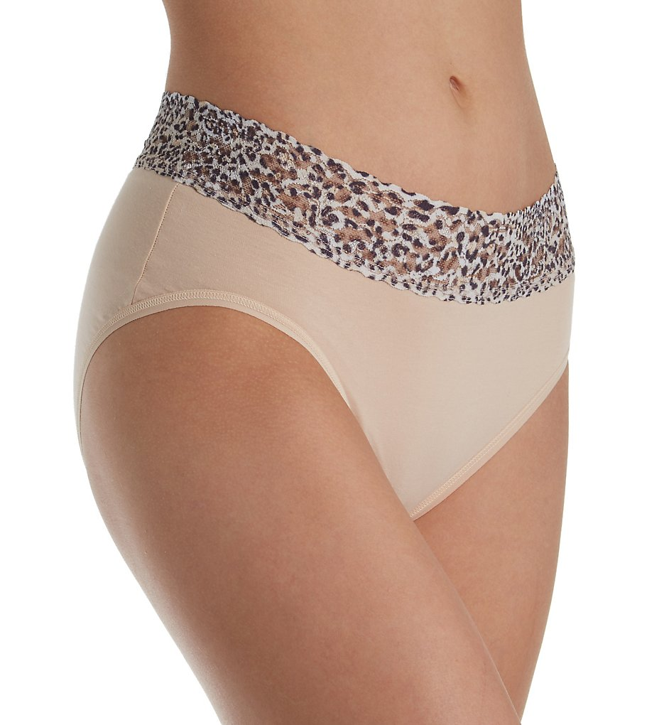 Hanky Panky - Hanky Panky 892441 Organic Cotton French Brief with Contrast Trim (Chai/Jaguar S)