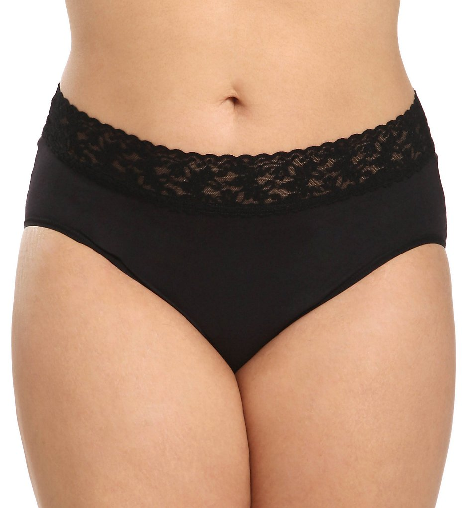Hanky Panky - Hanky Panky 892461X Organic Cotton Plus Size Brief Panty (Black 1X)
