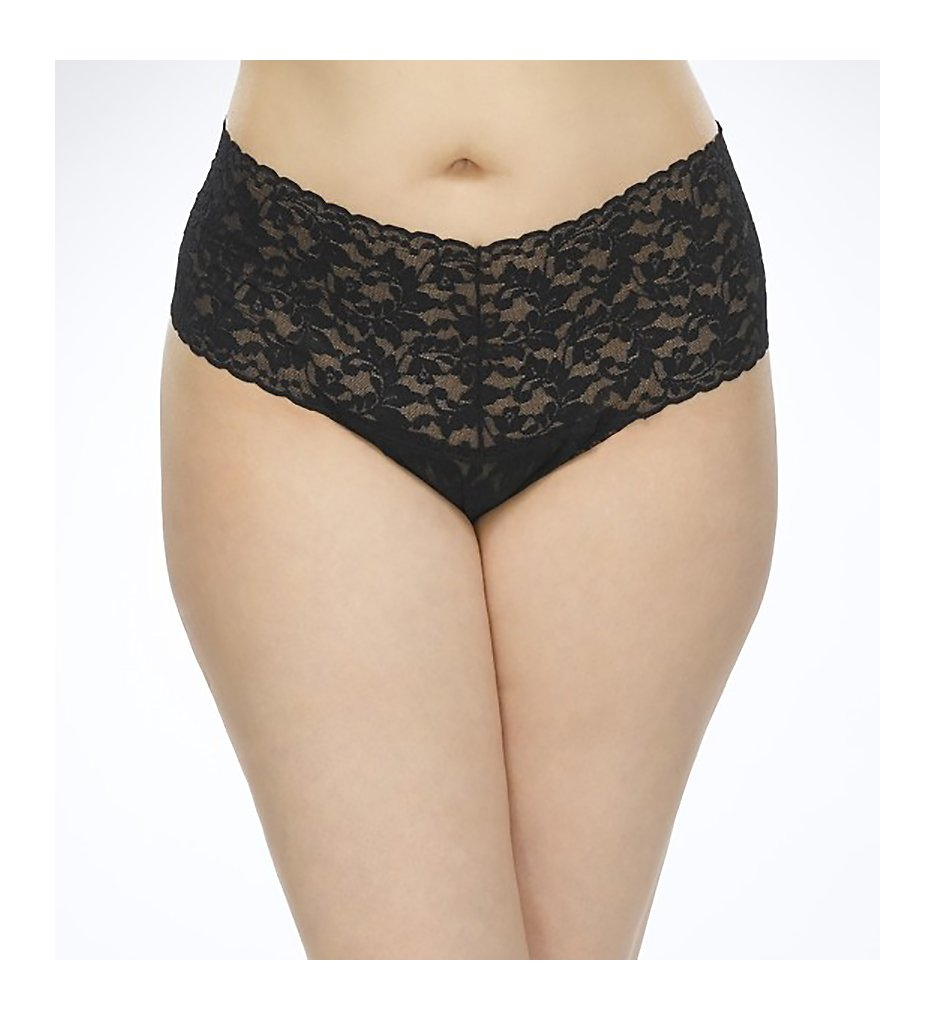 Hanky Panky - Hanky Panky 9K1926X Plus Size Retro Thong (Black O/S Plus)