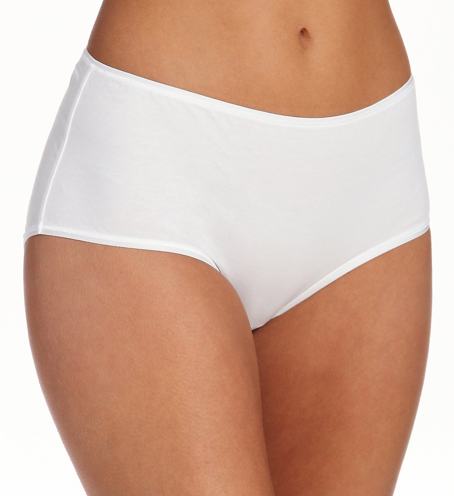 Hanro : Hanro 1324 Cotton Sensation Brief Panty (White XS)