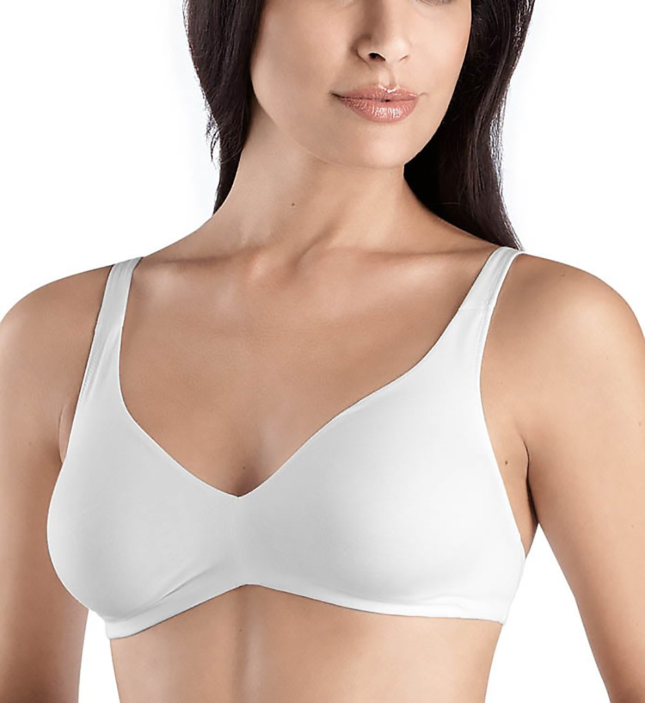 Hanro : Hanro 1393 Cotton Sensation Full Busted Soft Cup Bra (White 32B)