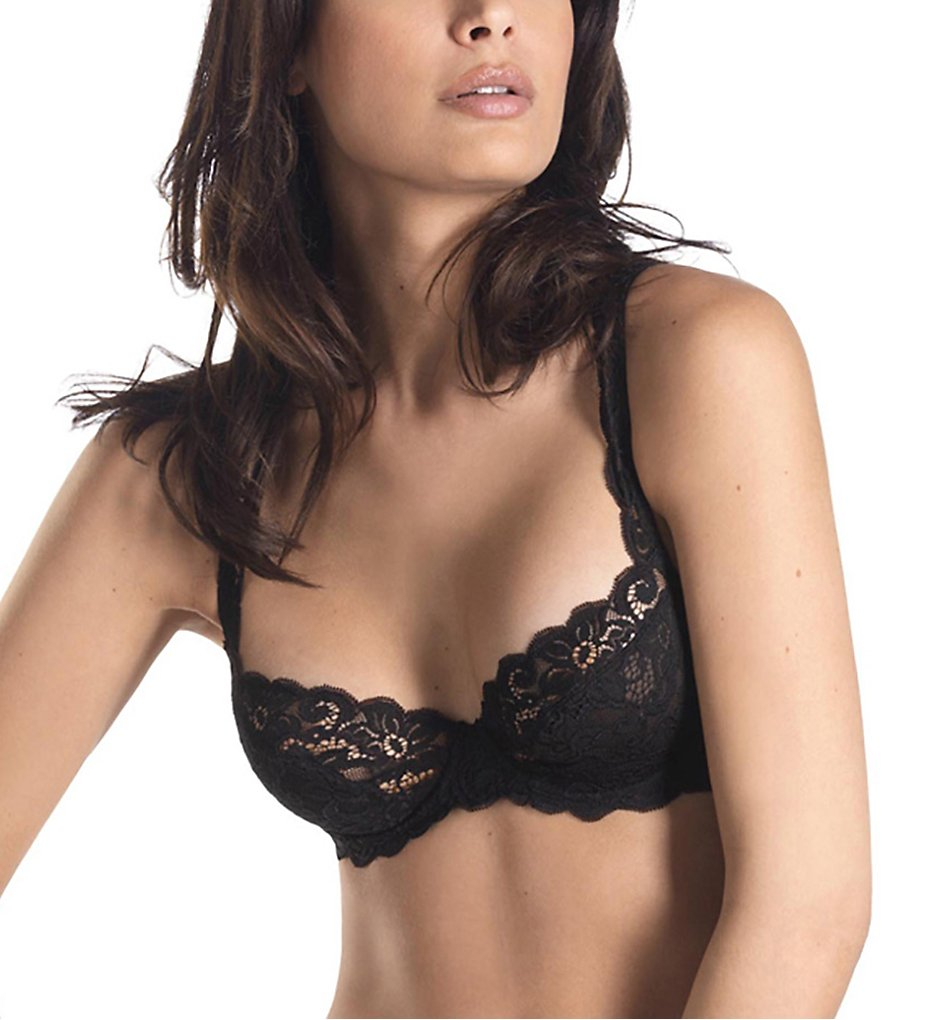 Hanro : Hanro 1443 Luxury Moments Underwire Bra (Black 34B)