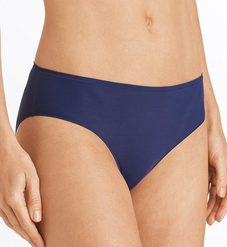 Hanro - Hanro 1457 Allure Hi Cut Brief Panty (Elegant Blue L)