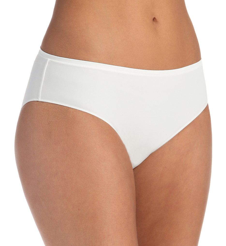 Hanro - Hanro 1457 Allure Hi Cut Brief Panty (Off White XS)