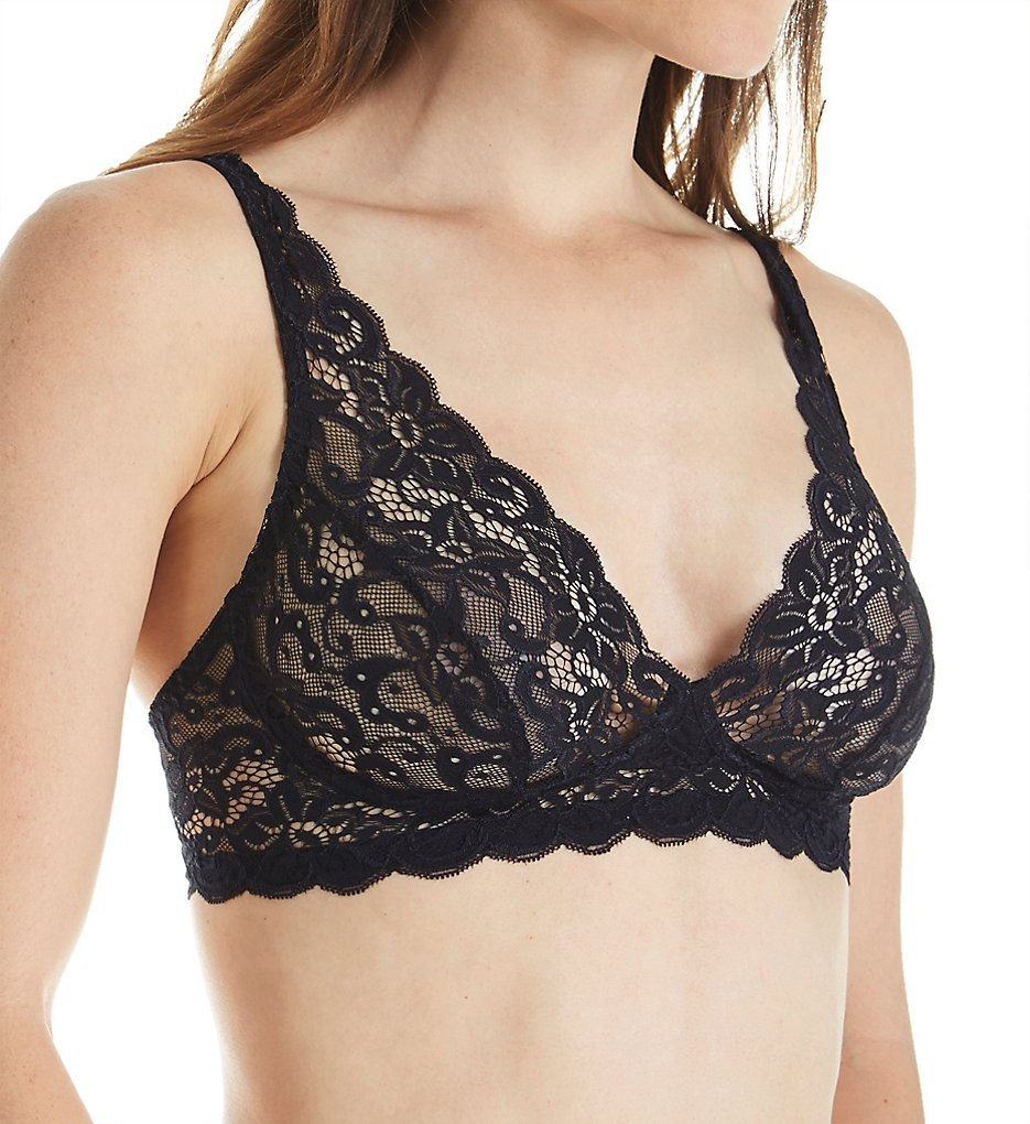 Hanro : Hanro 1465 Luxury Moments All Lace Soft Cup Bra (Black 32A)