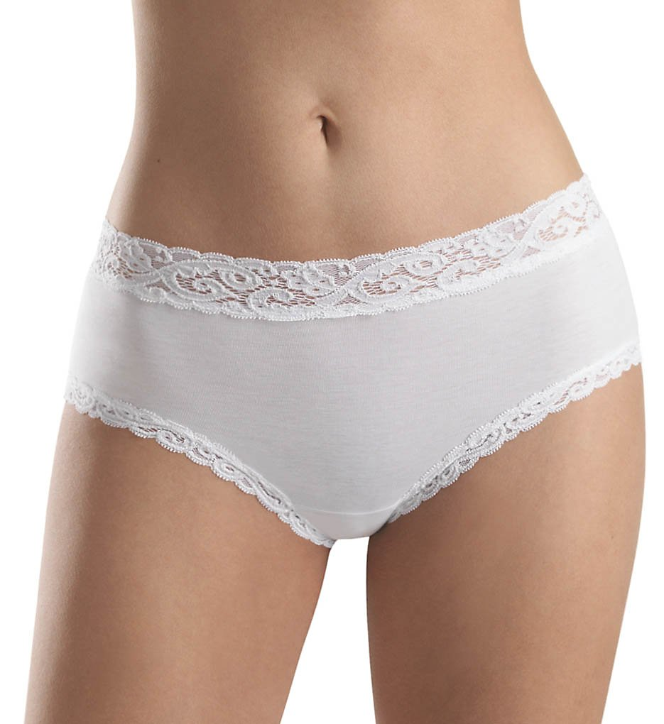 Hanro - Hanro 1483 Moments Full Brief Panty (White XS)