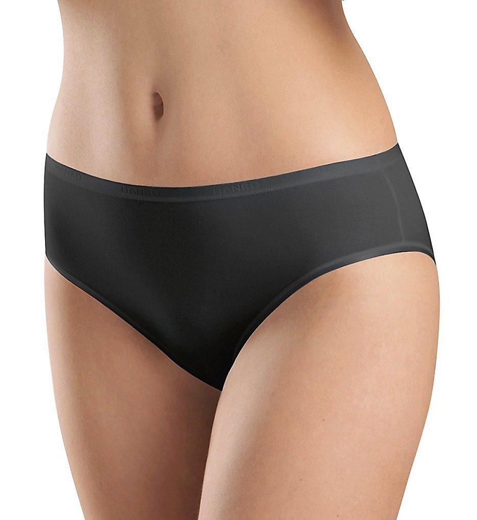 Hanro - Hanro 1538 Smooth Touch Hi Cut Brief Panty (Black M)