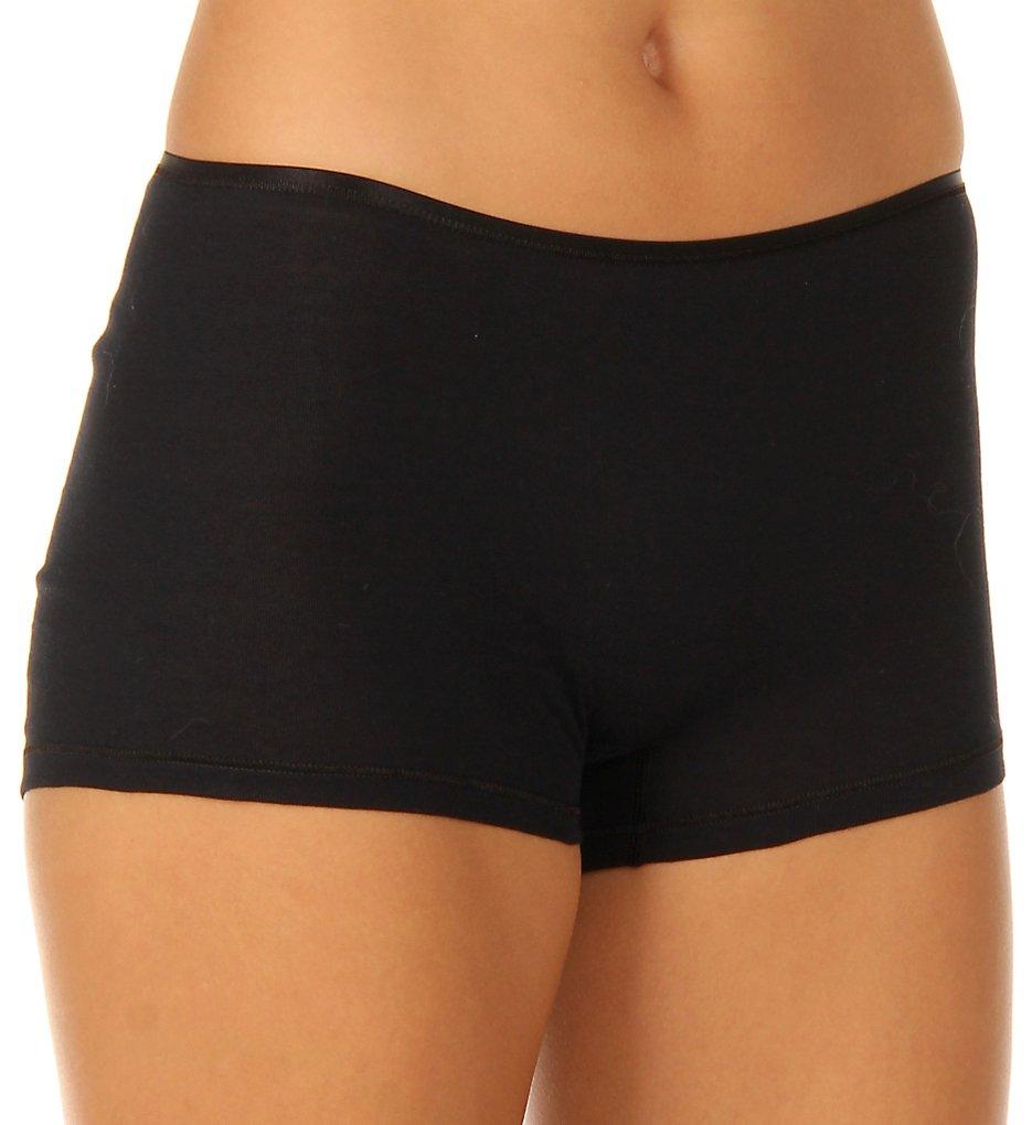 Hanro - Hanro 1631 Cotton Seamless Boyleg Panty (Black XS)