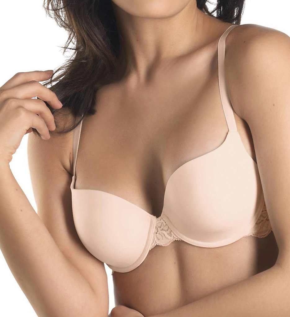 Hanro : Hanro 71466 Luxury Moments T-Shirt Bra (Beige 32A)
