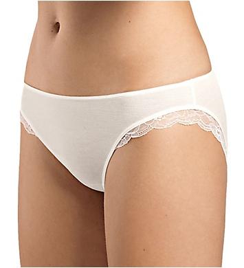 Hanro Fina Lace Trim Silk Blend Bikini Panty