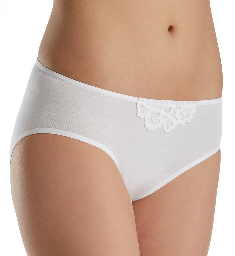 Hanro : Hanro 72428 Summer Hi-Cut Brief Panty (White XS)