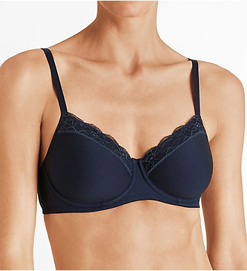 Hanro Cotton Lace Spacer T-Shirt Bra
