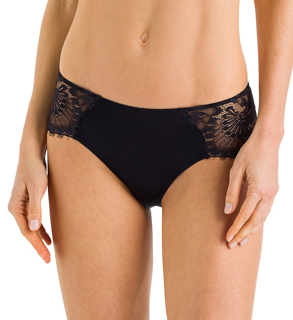 Hanro - Hanro 72560 Laila Hi-Cut Brief Panty (Black XS)