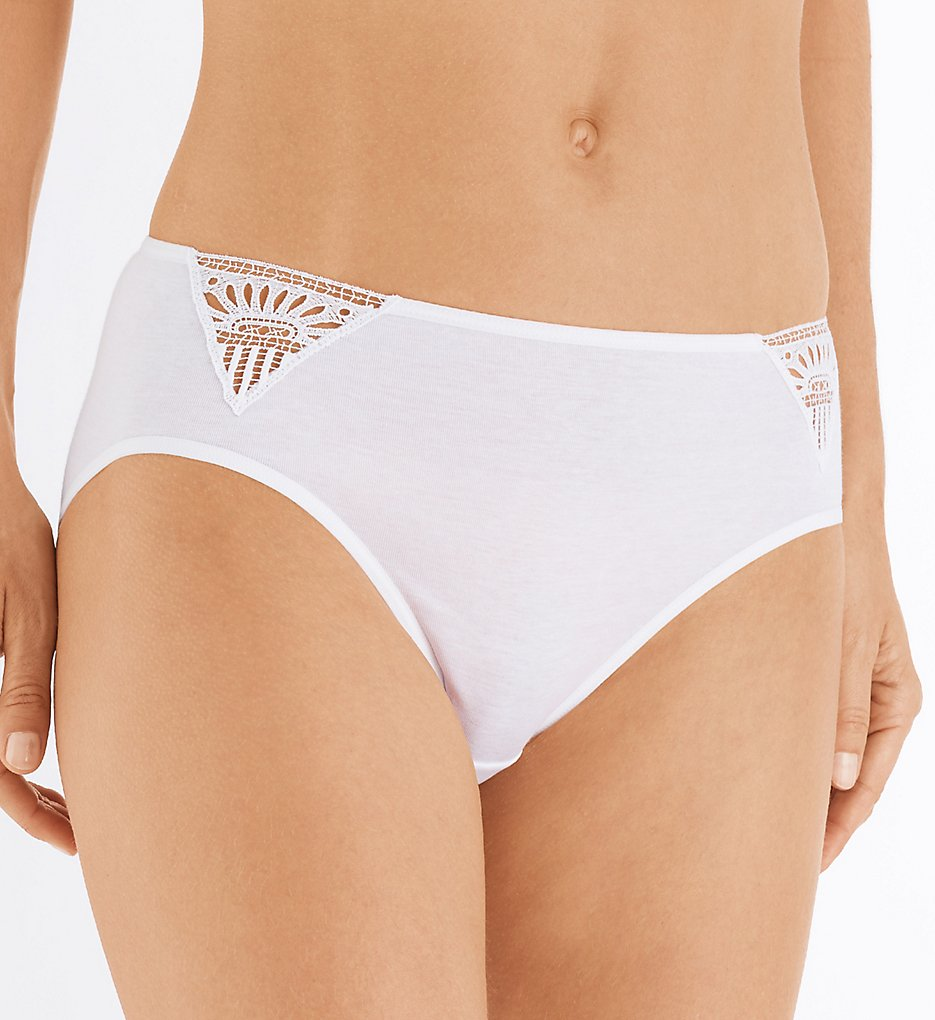 Hanro - Hanro 72674 Malene Hi-Cut Brief Panty (White XS)