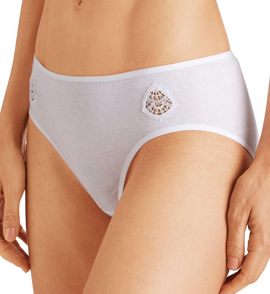 Hanro - Hanro 72793 Moya Hi-Cut Brief Panty (White XS)
