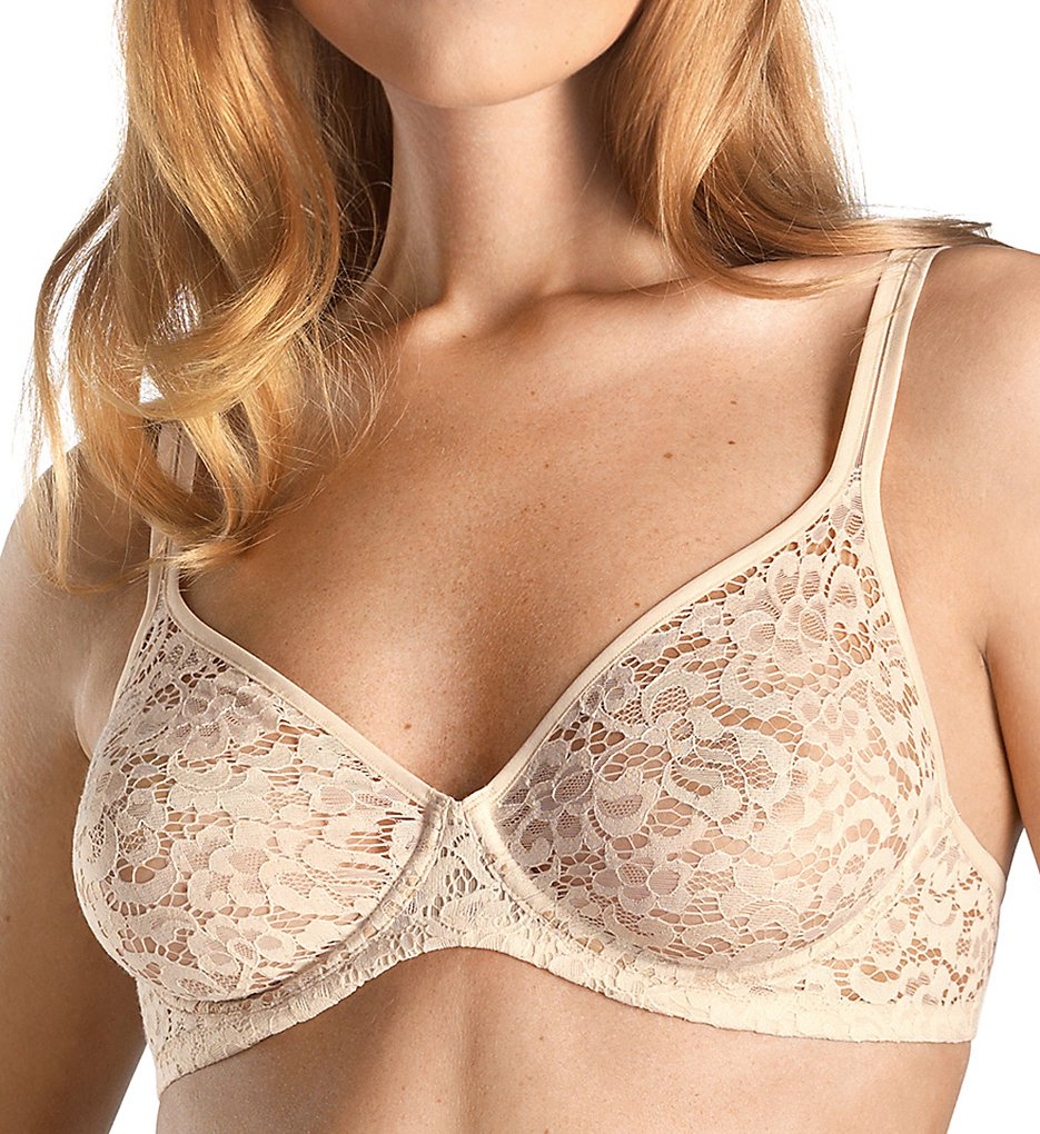Hanro - Hanro 72894 Messina Lace Underwire Bra (Natural 32C)