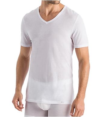 Hanro Ultralight Supima Cotton V-Neck T-Shirt