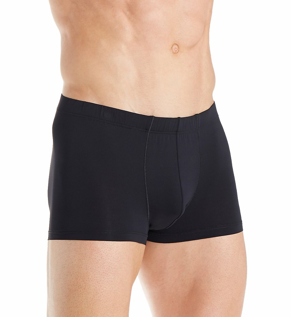 hanro 73057 micro touch boxer brief with covered waistband (black 2xl)