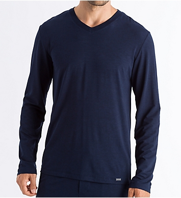 Hanro Casuals Long Sleeve V-Neck T-Shirt