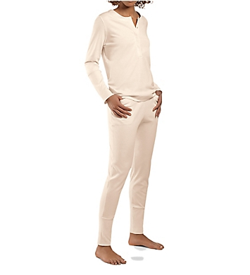 Hanro Alice Brushed Back Mercerized Cotton Pajama